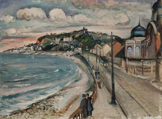 Othon Friesz (French, 1879-1949), Bord de mer, la promenade à Sainte Adresse, 1914. Oil on canvas, 54 x 73 cm.