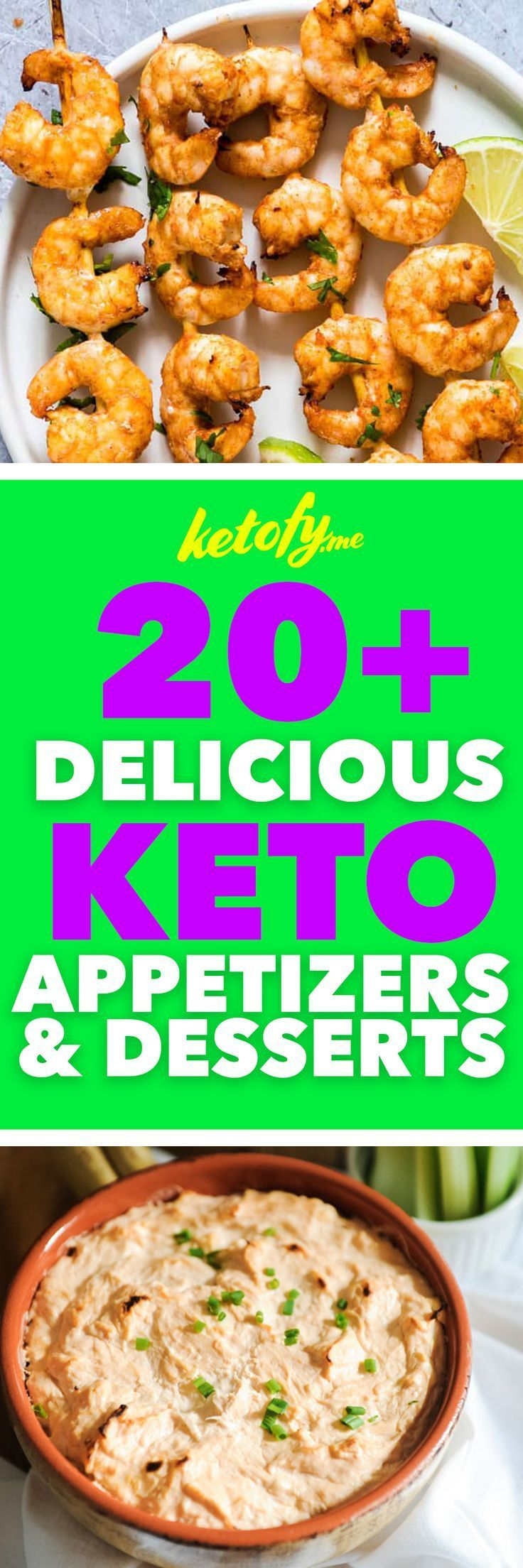 20+ Keto & Low Carb Appetizers & Desserts for the Super