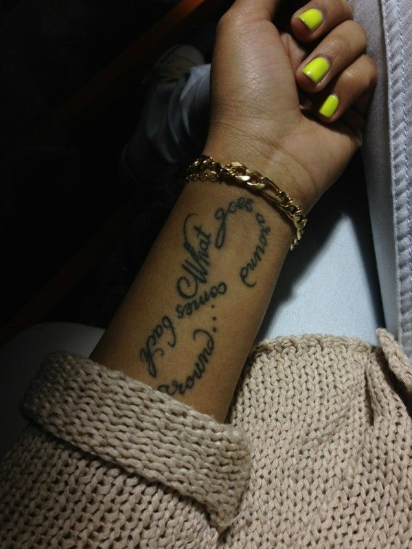 Wrist Girl Quotes Tattoo Infinity My Fav Pinterest Tattoos