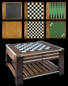 Wooden Chess Checkers Dice Backgammon Game Table L Recreation Game
