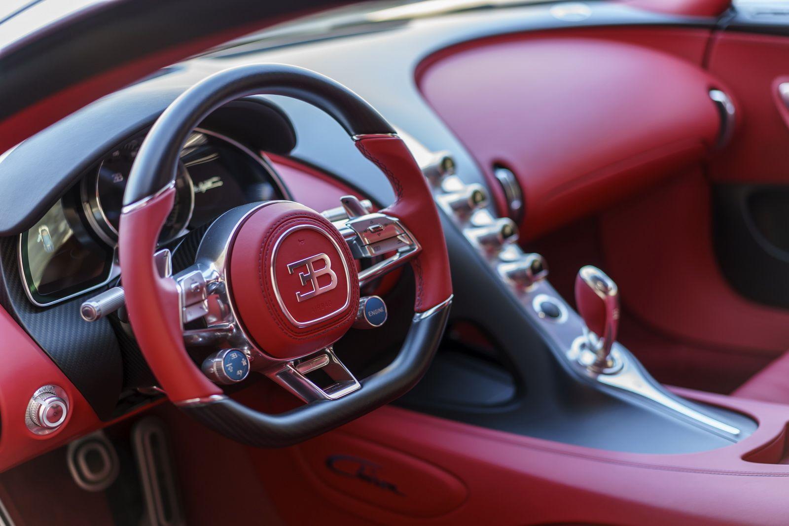 Bugatti Showcases Stunning Blue Carbon Chiron At The Quail 21