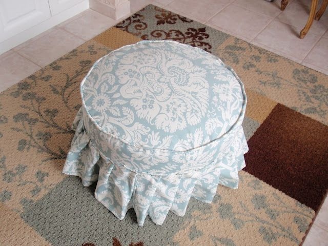 From Christmas Tree Stand To Upholstered Ottoman Diy Ottoman
