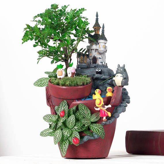 Flower Pot Resin Garden Planter Bonsai Succulent Plant Flowerpot Home Decoration