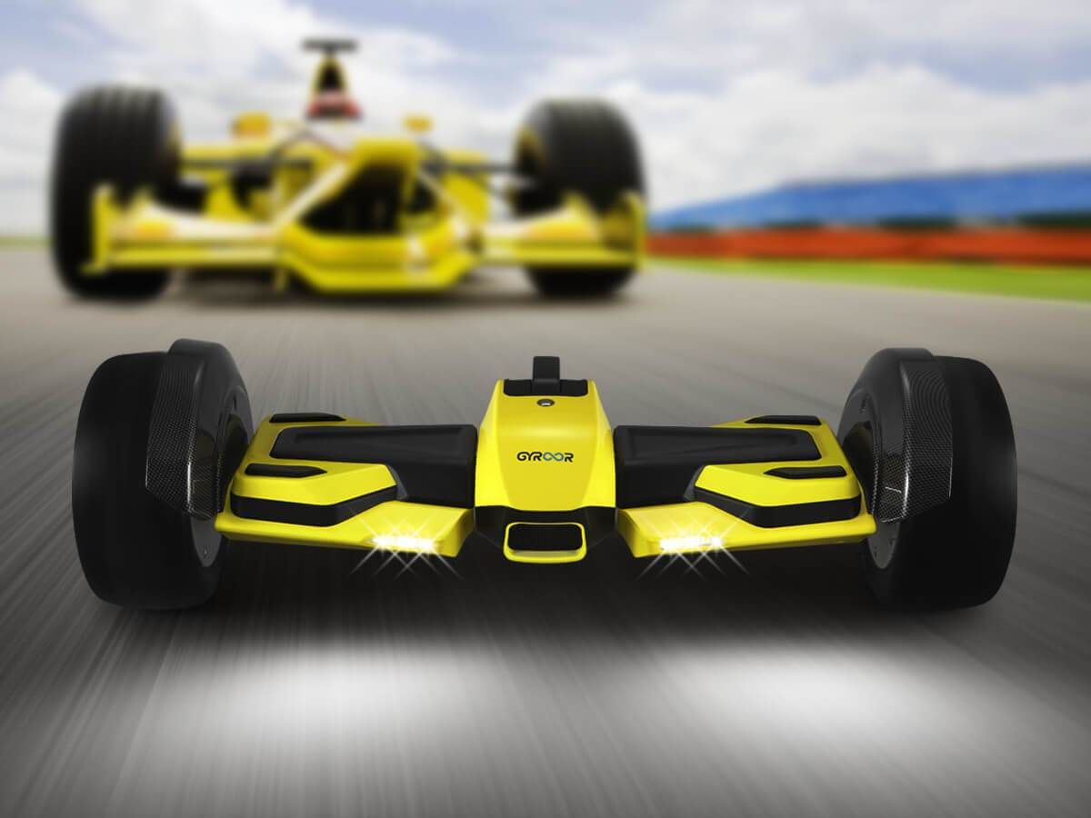 World's Fastest Gyroor F1 Hoverboard 2.0 Yellow With