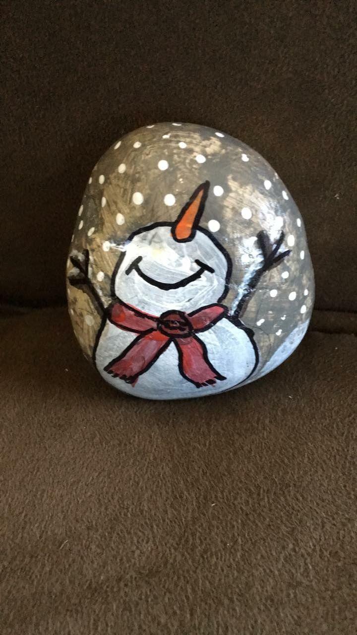Happy snowman! #steinebemalenvorlagen
