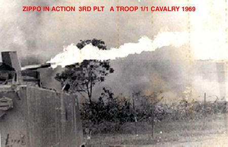 Zippo in Action Unit Name: A Trp 1st Sqdrn 1st Cavalry Base