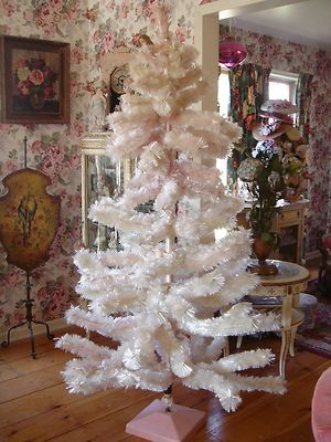Rare The Finest Pale Pink Vintage Bottle Brush Christmas Tree 6 1 2 Foot Chic Ebay