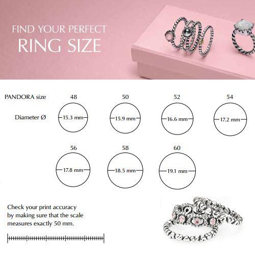 Image Result For Pandora Ring Size Guide Pandora Ring Sizes