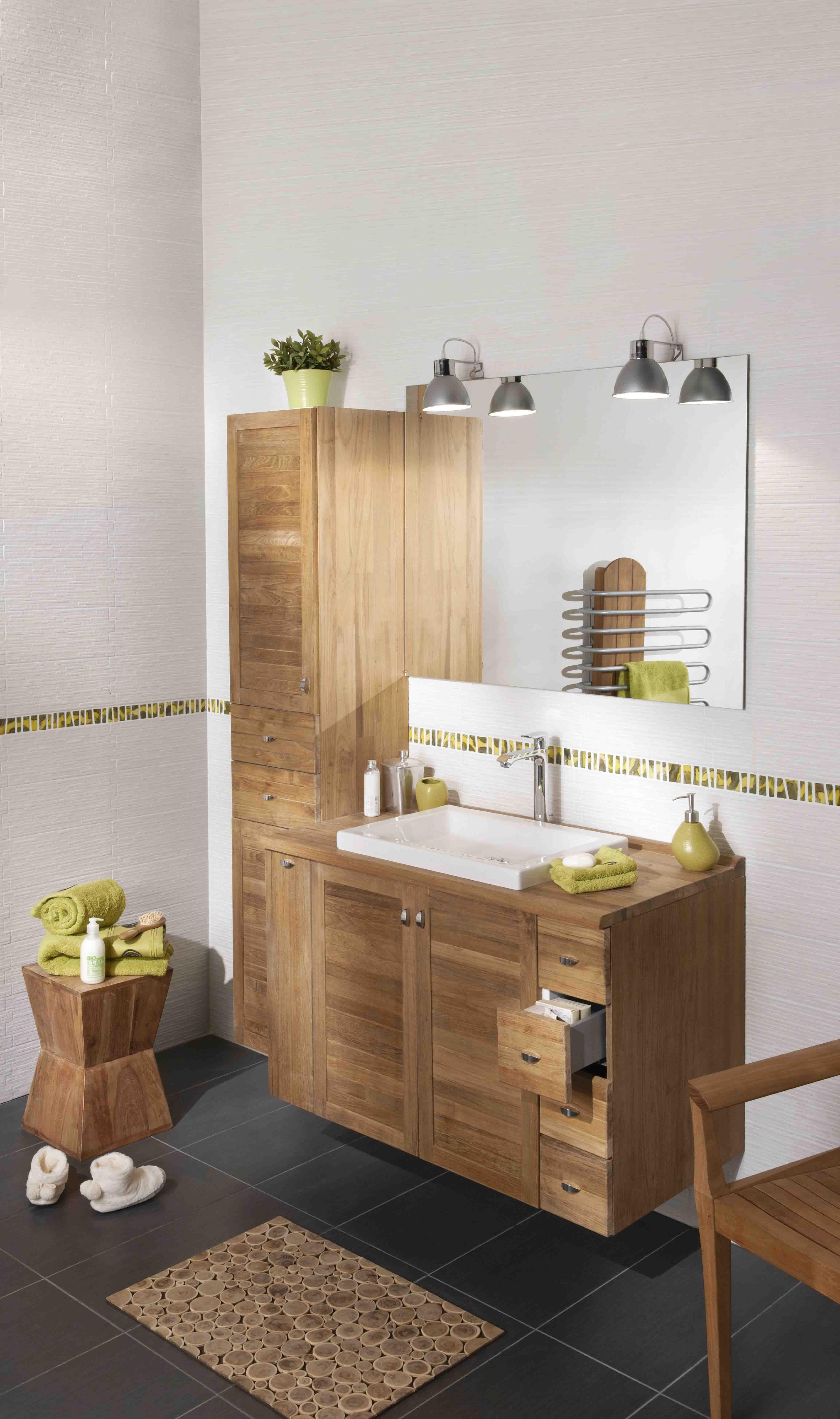 meuble bois modele creatis teck http www lapeyre fr