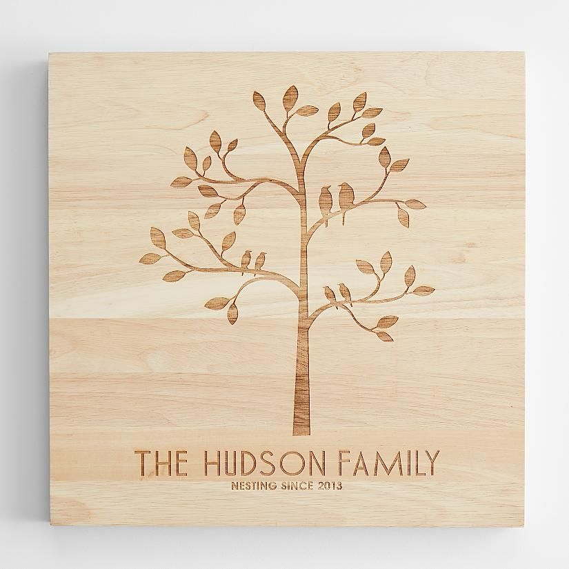 Send Family Tree Wooden Wall Art and other personalized gifts at Personal Creations.  sc 1 st  Pinterest & Personalized family tree from Red Envelope Sizes: 12x16 ($95) 16x16 ...