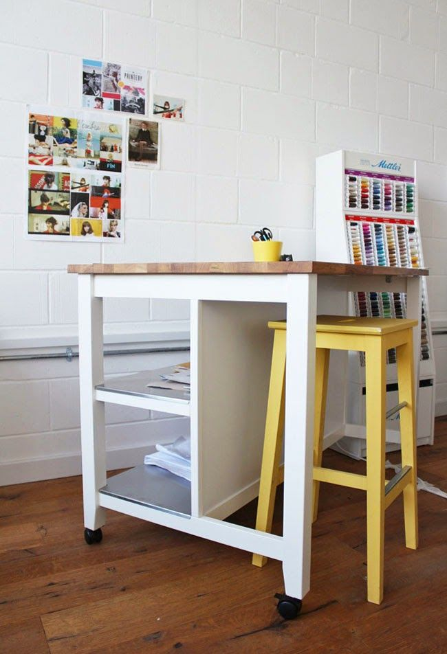 tilly and the buttons cutting table hack ikea stenstorp kitchen island white - Kitchen Table Sewing
