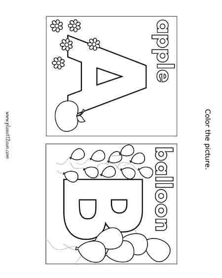 Free printable black \ white worksheet Coloring the letters of - printable worksheet