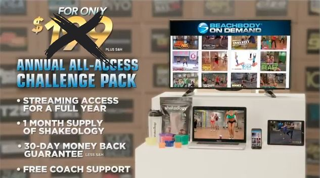 Best Fitness Deal Ever All Access Challenge Pack Best Deal Beachbody All Access Challenge Pack Discounted Price Free T Challenge Pack Fun Workouts Beachbody