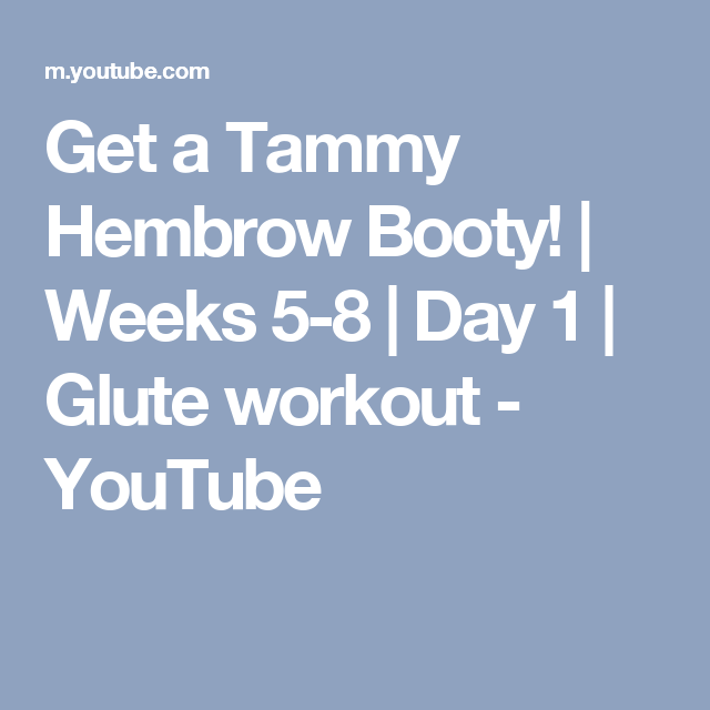 8367d834c8 Get a Tammy Hembrow Booty!