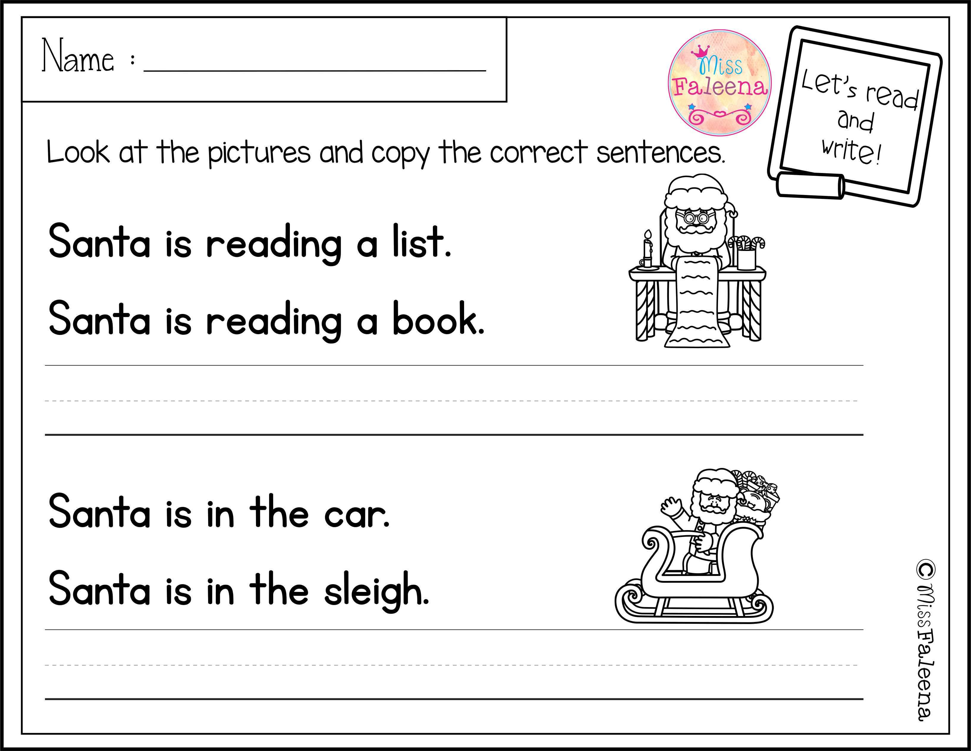 December Sentence Writing Has 20 Pages Of Sentence Writing