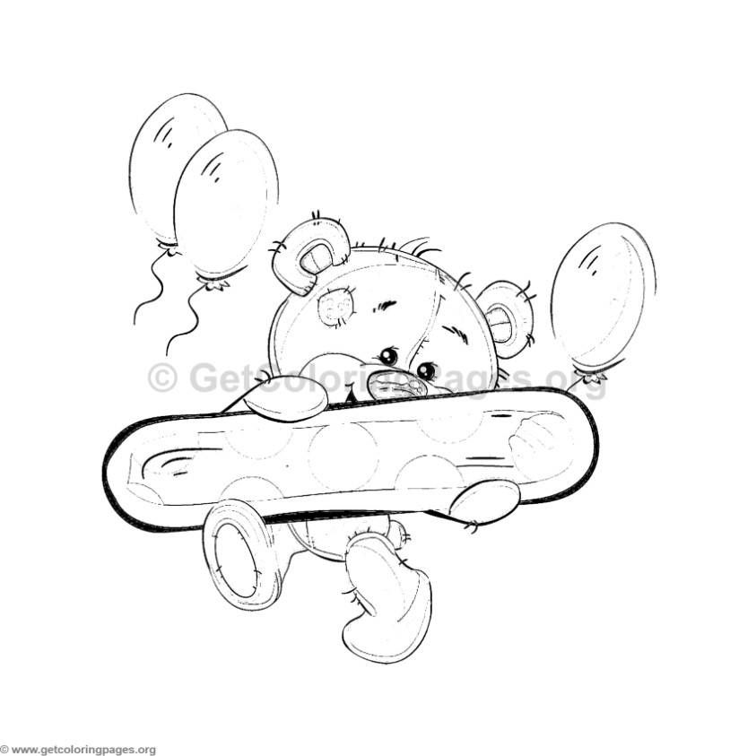 teddy bear number coloring sheets – GetColoringPages.org | coloring ...