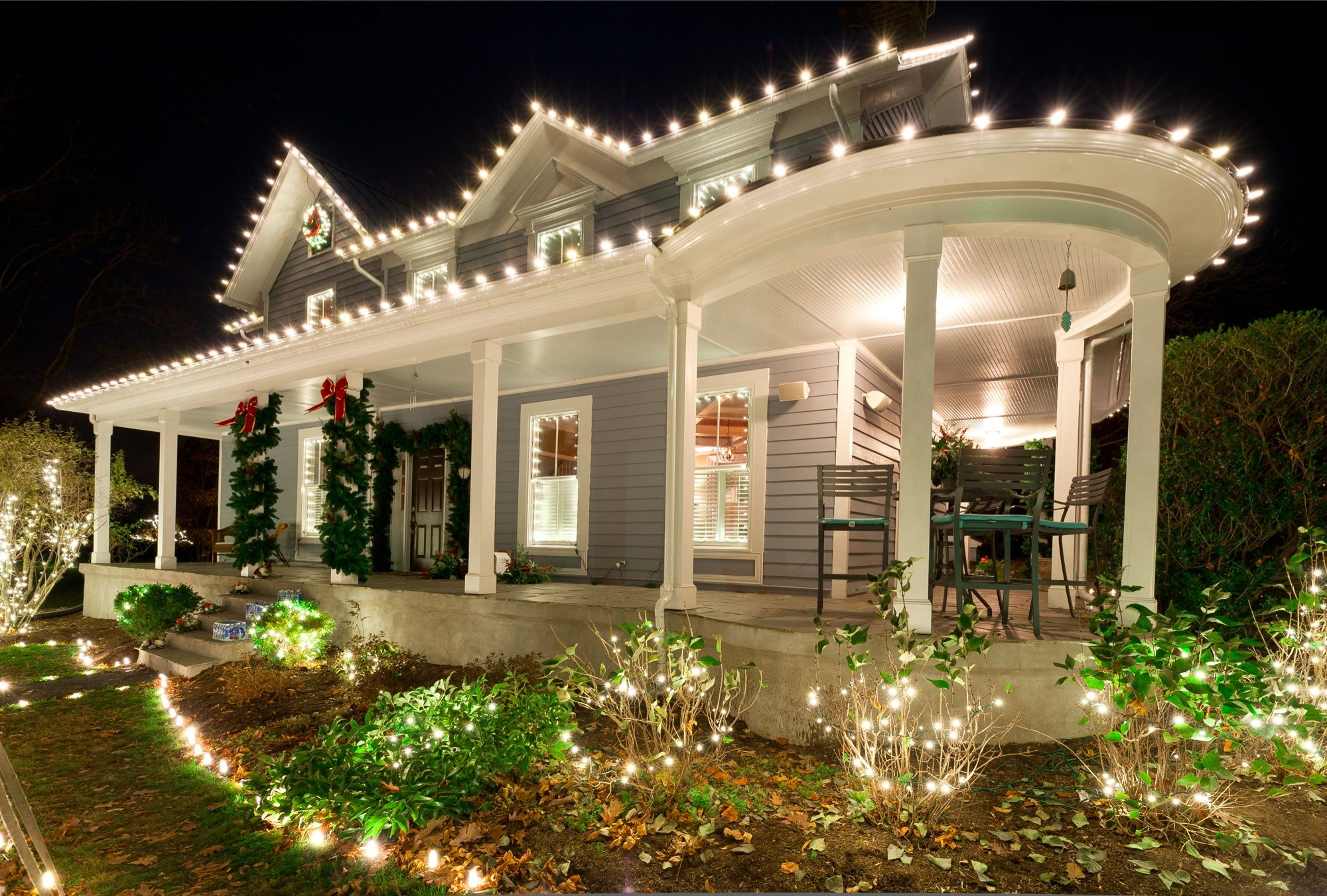 Christmas Lights Wrap Around Porch Christmas house lights