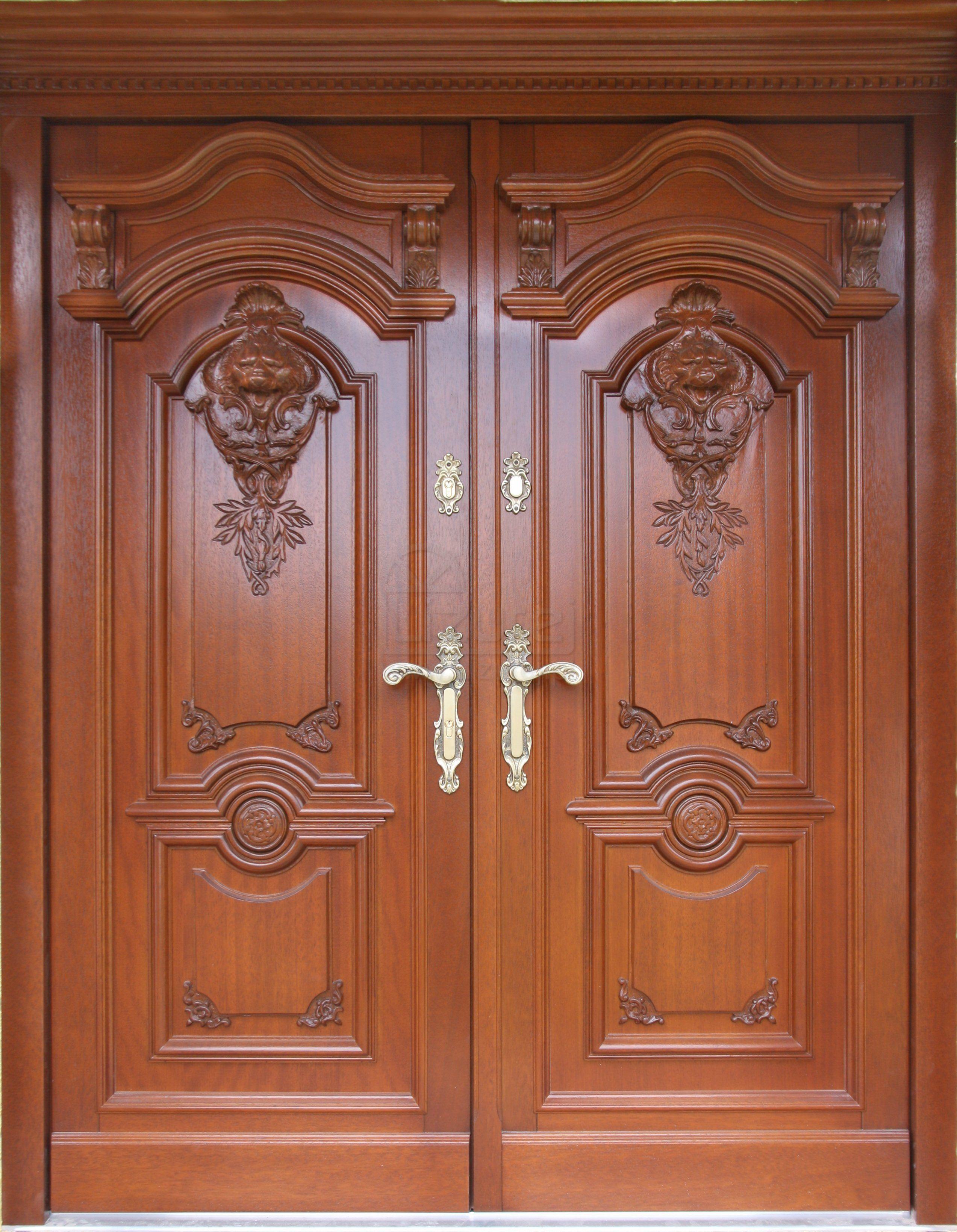 Drzwi Zewnetrzne Stylowe Ekskluzywne Z Rzezba Dwuskrzydlowe Lz 539 Lizurej Wooden Front Door Design Door Glass Design Front Door Design Wood