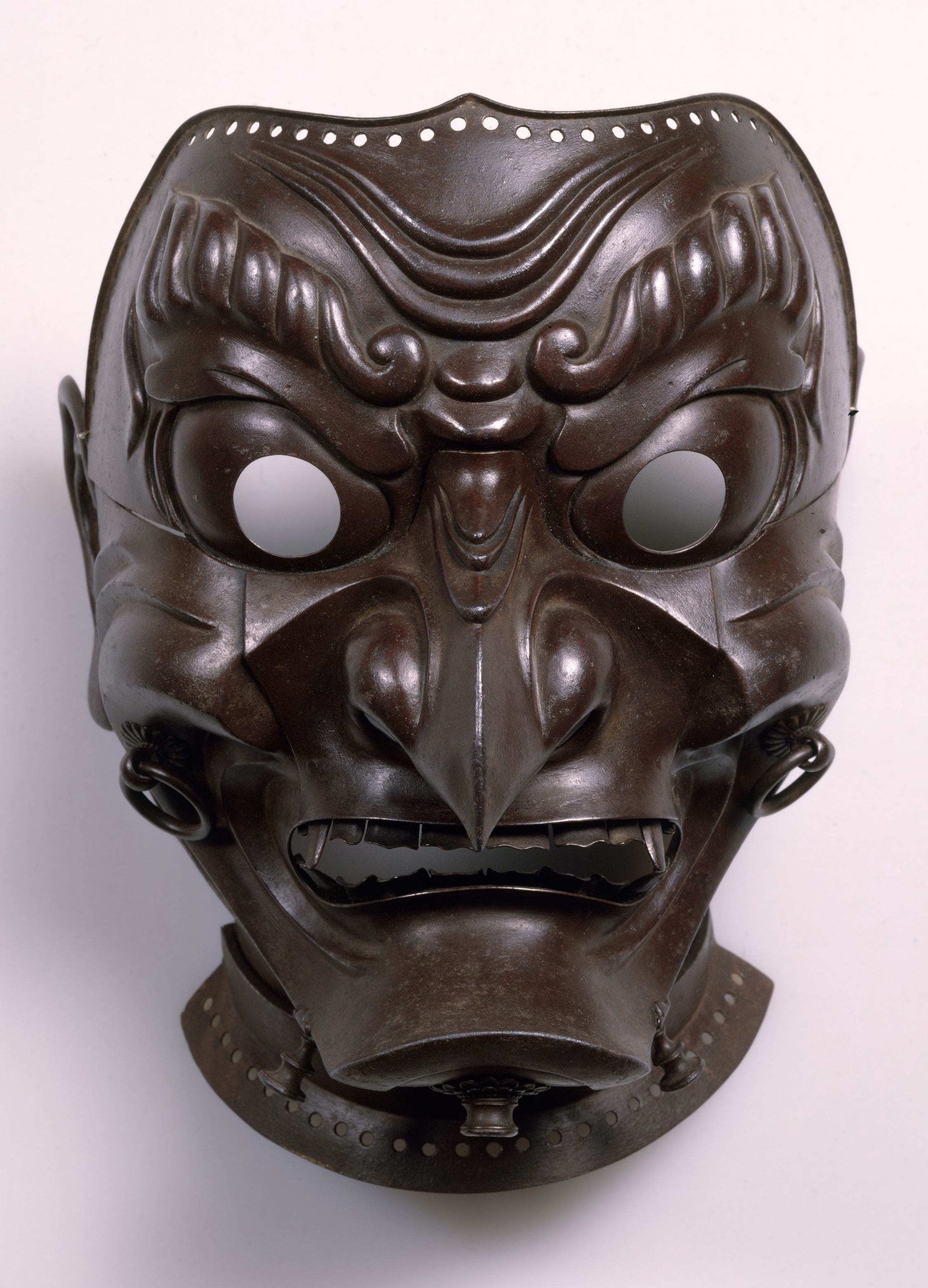 Myōchin Muneakira – Lacquered iron mask, 1713 (With images ...