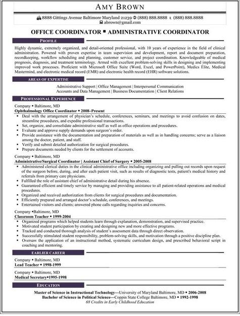 Medical Office Administrative Resume  HttpJobresumesampleCom