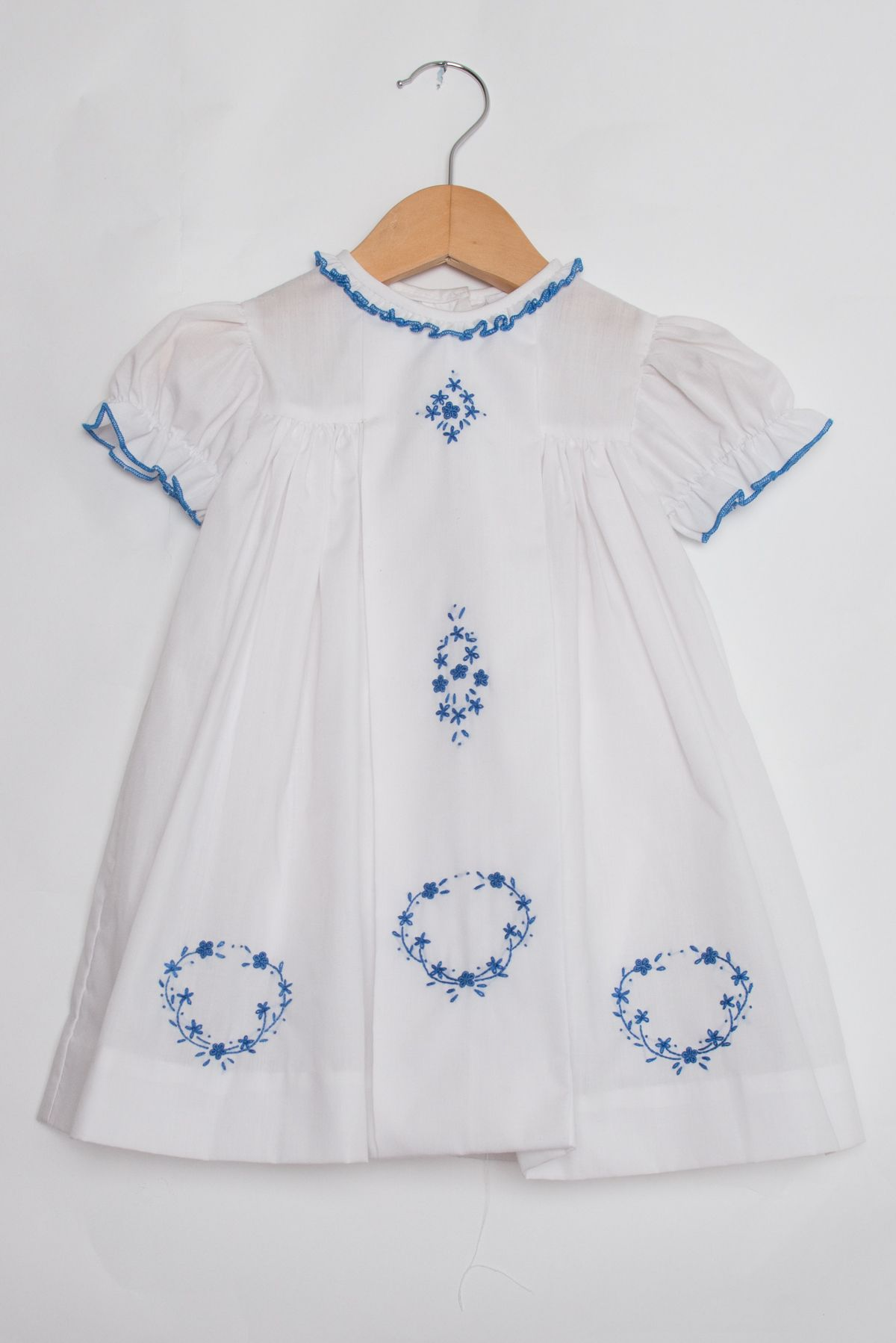 fcb5d634c3 White Embroidered Fiesta Dress