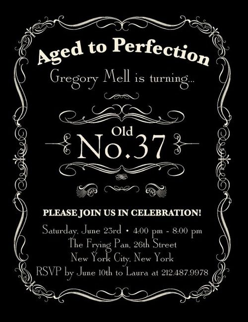 Aged To Perfection Cute Idea For An Adult Birthday Party Invite