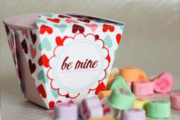 Free Printable : Valentines take out box -