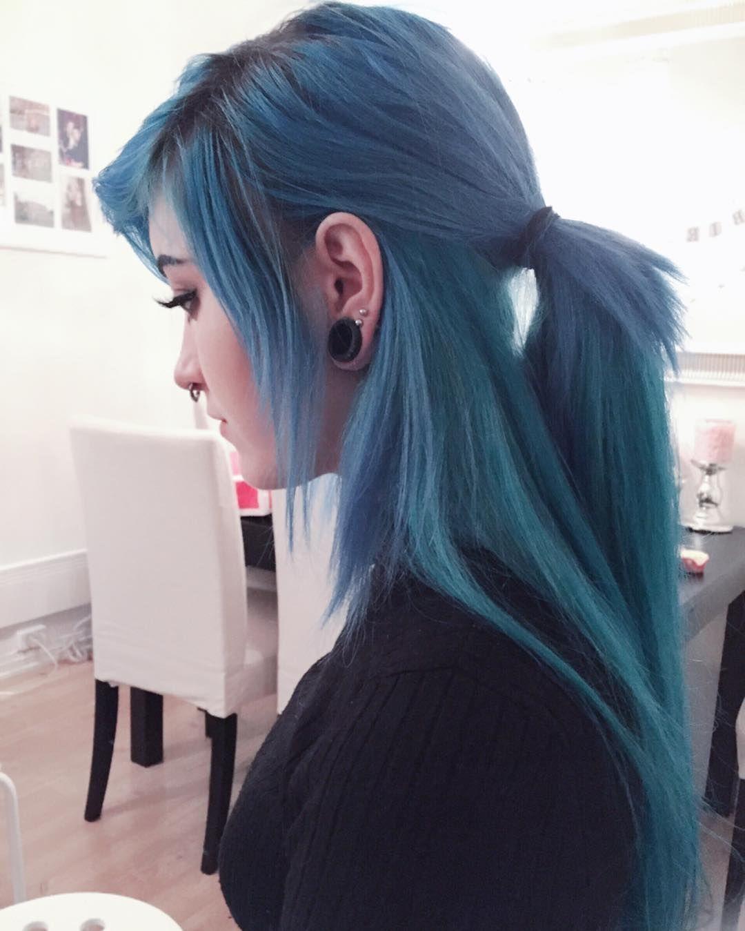 blue hair ideas that youull love pinterest long hair