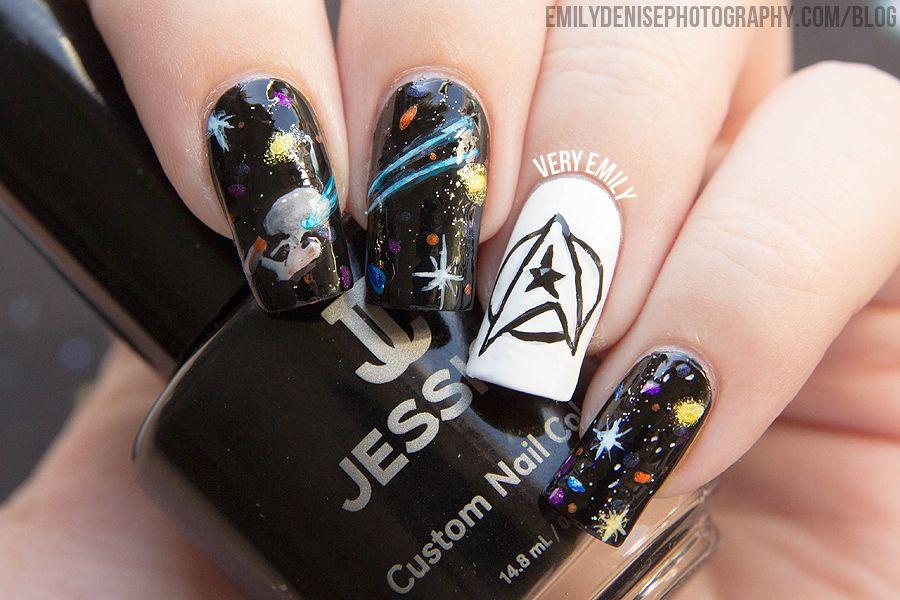 Star Trek Nail Art - Star Trek Nail Art Star Trek Nails, Nail Nail And Art Nails