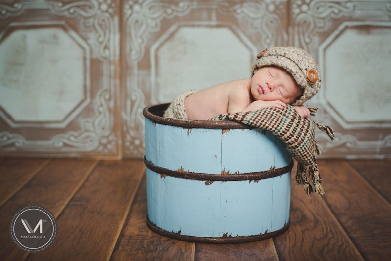newborn Parker, blues and browns