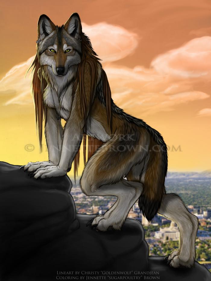 Bounty Hunter Female Werewolf Scetches