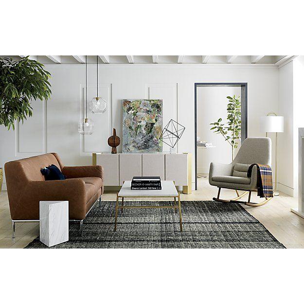 Alfredsofabiatasselnavyblueag18 Leather Furniture Glass
