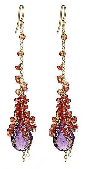 I would love to wear these baby! :) Autumn Cascade Earring: Sara Freedenfeld: Gold & Stone Earrings - Artful Home