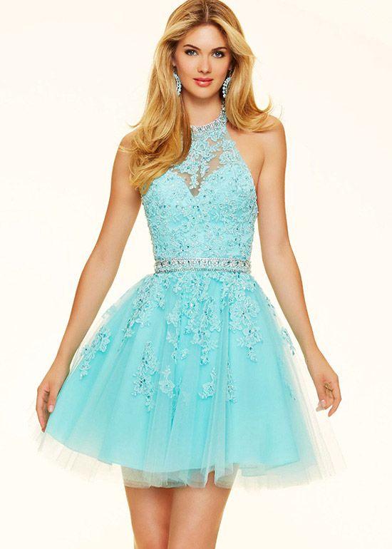 Aqua Cocktail Dresses - Dress Xy