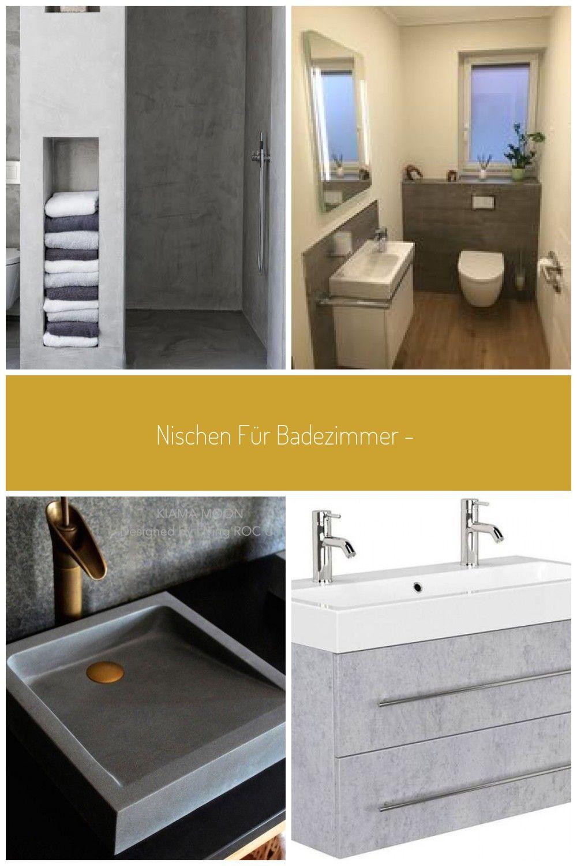 Nischen Fur Badezimmer Ideen Und Fotos Waschtisch Betonoptik
