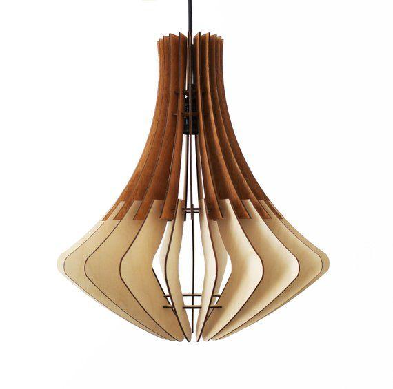 Elegant Pendant Light Wood Lamp Ceiling Lighting Plywood