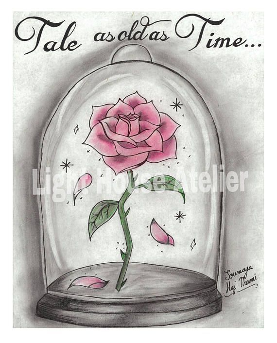 Enchanted Rose Drawing: Pin De Heather K. Looft