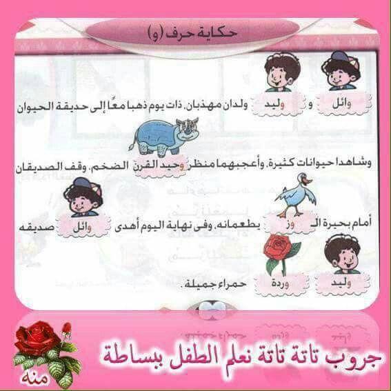 قصة حرف و Langue Arabe Education Cours Arabe