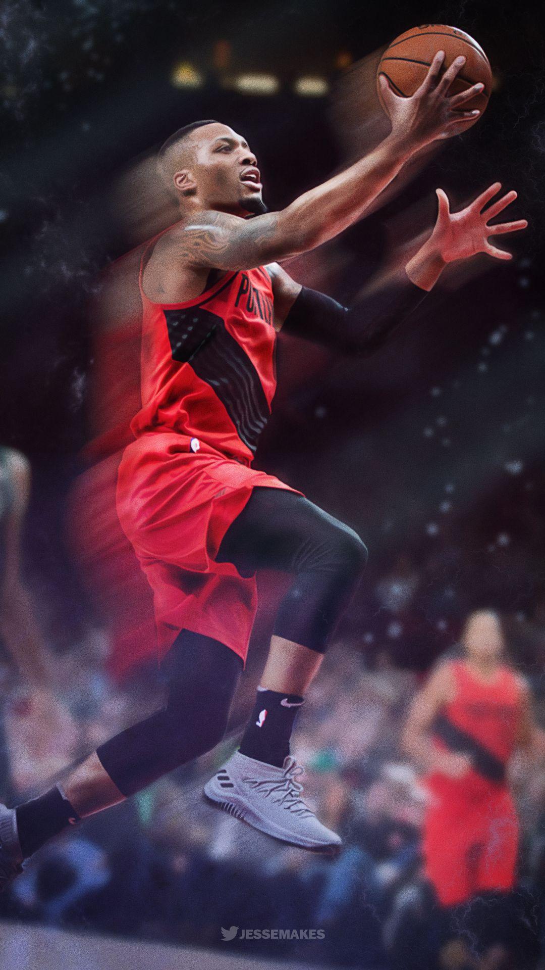 Damian Lillard Nba Basketball Nba Wallpapers Nba Players