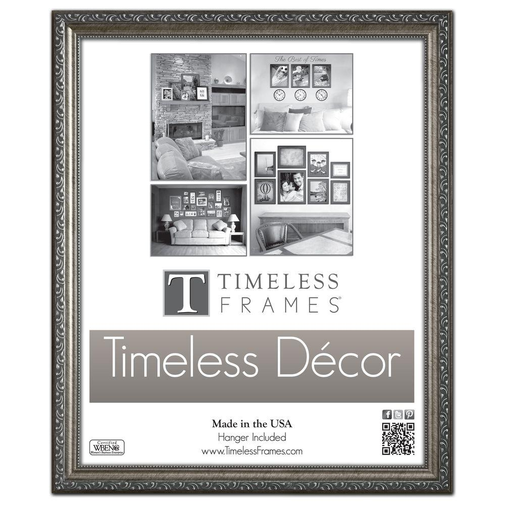 Timeless Frames Carrington 1 Opening 16 In X 20 In Pewter Picture Frame Gold Picture Frames Picture Frame Sizes Picture Frames