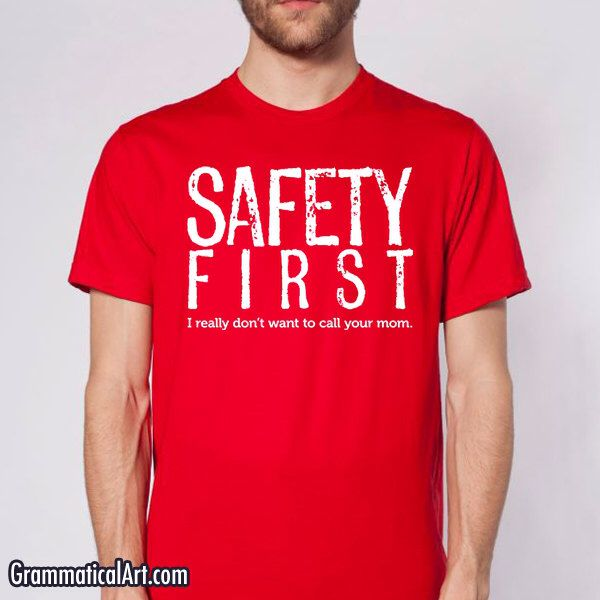 a71b77c9 Men's Shirt Safety First Science Teacher Gift Funny Teacher Gifts for  Teachers Cool Funny T Shirts