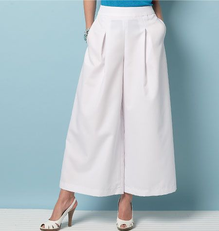 Potential culottes pattern if self-drafting doesn\'t work out: V9091 ...