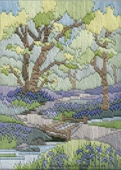 Derwentwater Designs Silken Long Stitch Kit-Meadow