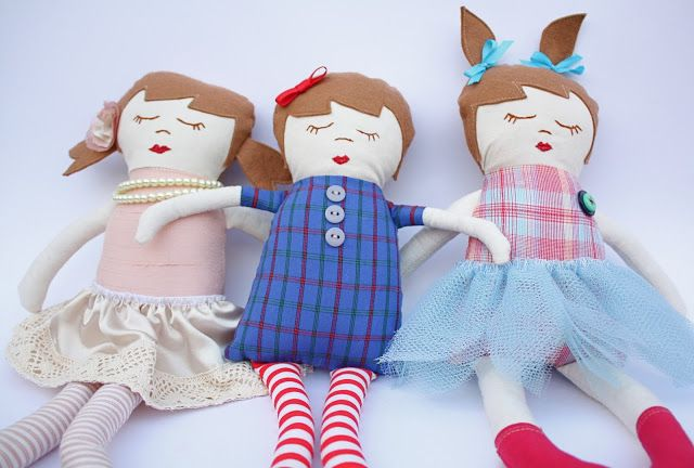 At Second Street: Handmade Gifts- part 5- Black Apple dolls