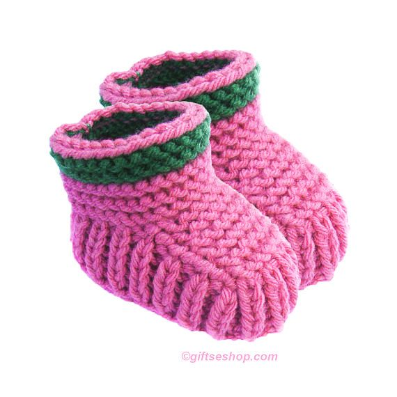 Two Needle Knit Baby Booties Patterns- Patterns and How To | Knit ...