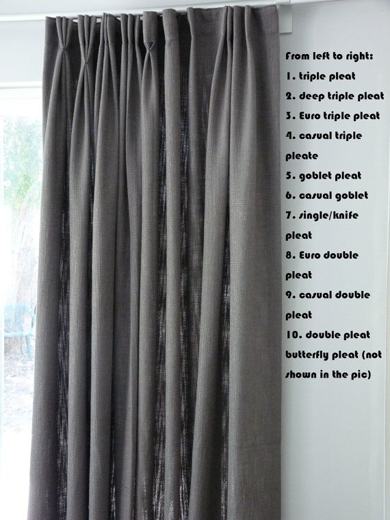 Create 10 Different Pinch Pleating Styles With Easy Pinch Pleat Drapes Diy Kit Pleating Tape And 4 Prong Ho Pinch Pleat Curtains Diy Drapes Drapes And Blinds