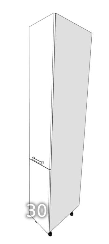GLOSS One-door standing wardrobe cargo 30 (Front color: Ec …