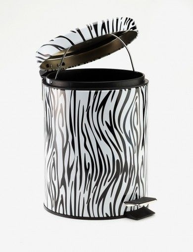 Chevron Print Wastebasket Trashcan Trash Can Waste Basket Your Choice Of Fabric Color