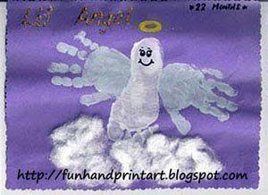 Christmas Handprint/Footprint/Thumbprint... - #christmas #HandprintFootprintThumbprint #mistletoesfootprintcraft