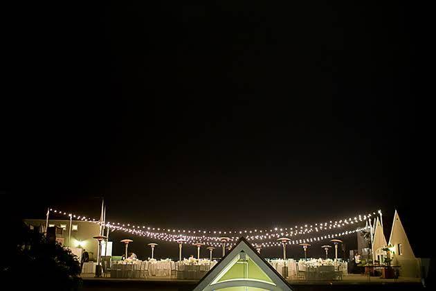 Rooftop Wedding Reception in Del Mar, California